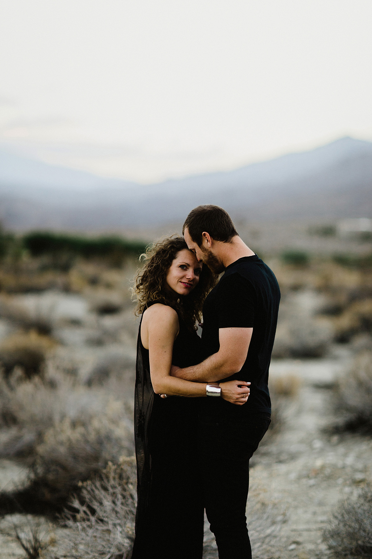 Palm springs engagement photographer during sunset